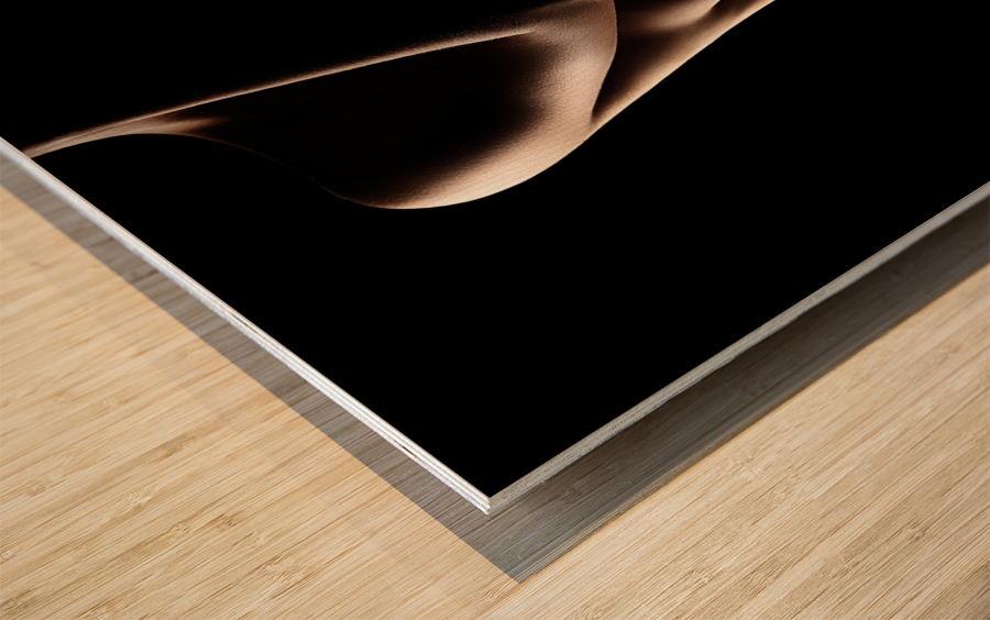 Silhouette of nude woman Wood print