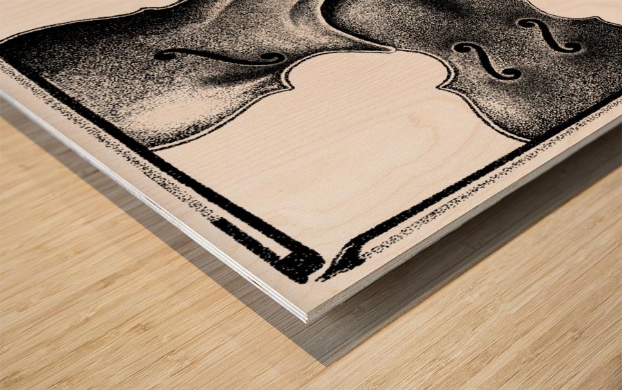 Discord Wood print