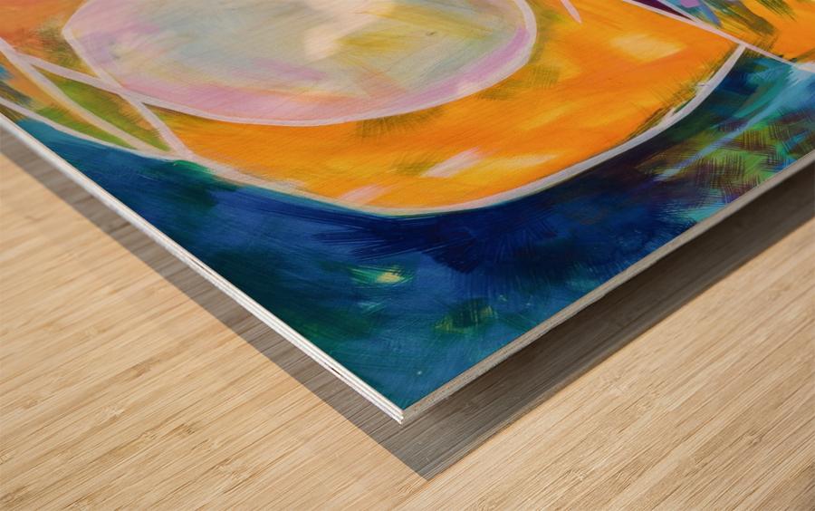 Moon Swoosh Wood print