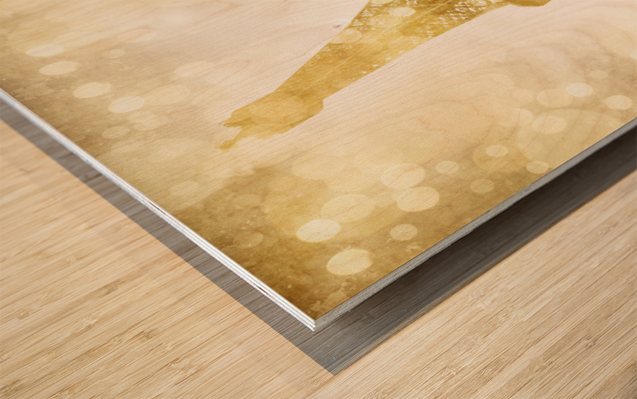 EIFFEL TOWER   golden illusion Wood print