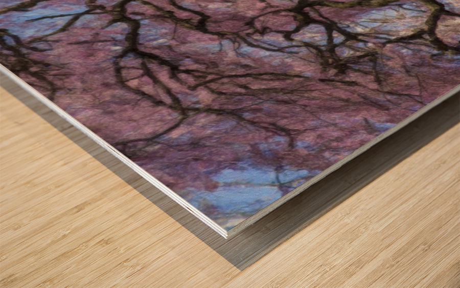 Abstract Cherry Blossom tree Wood print