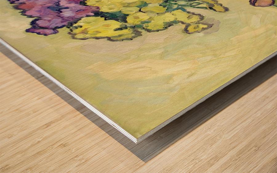 Chryzantemums Wood print