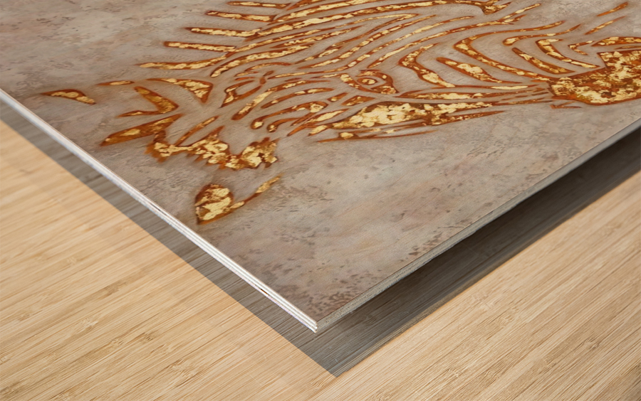 Gold Zebra Wood print