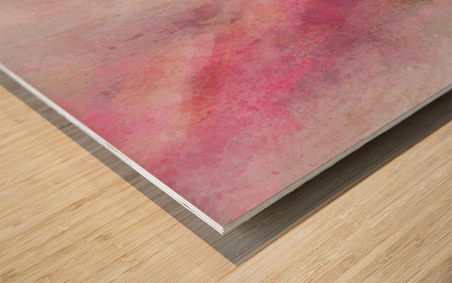 Pink Wood print