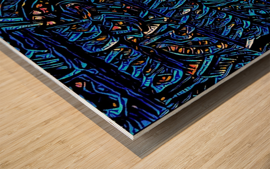draow Wood print