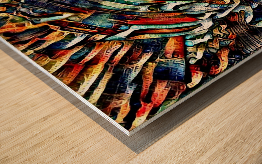 dysmeli Wood print
