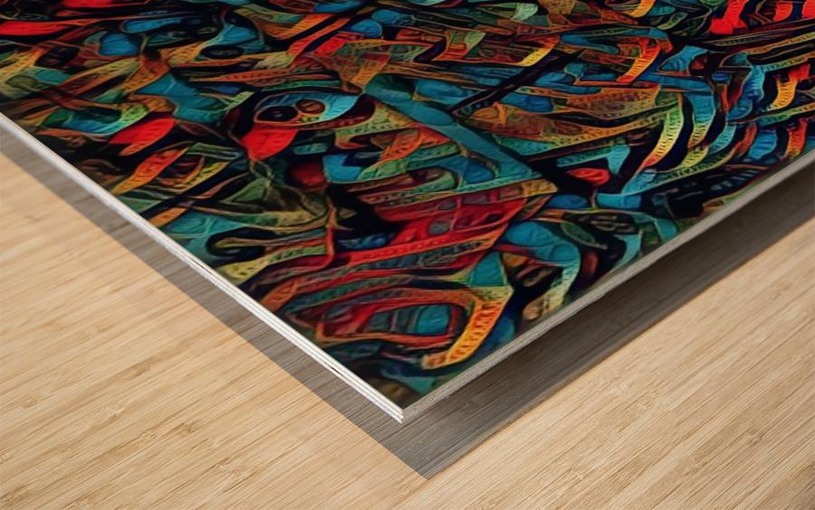 kalephant Wood print