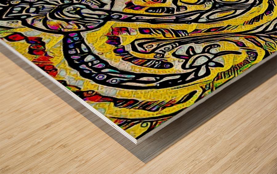 larg  Wood print