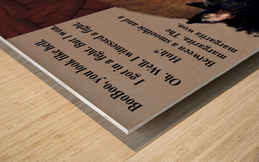 Fight Wood print