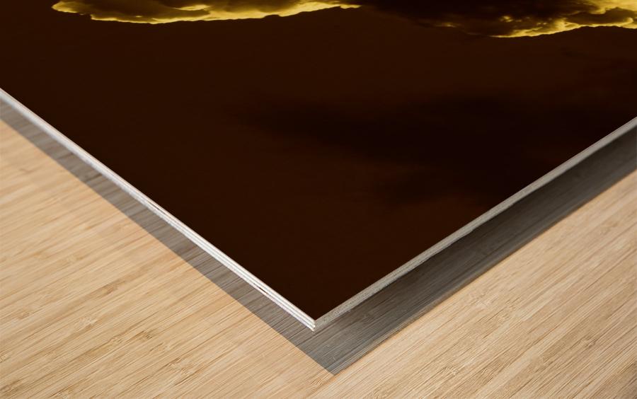 A (5) Wood print