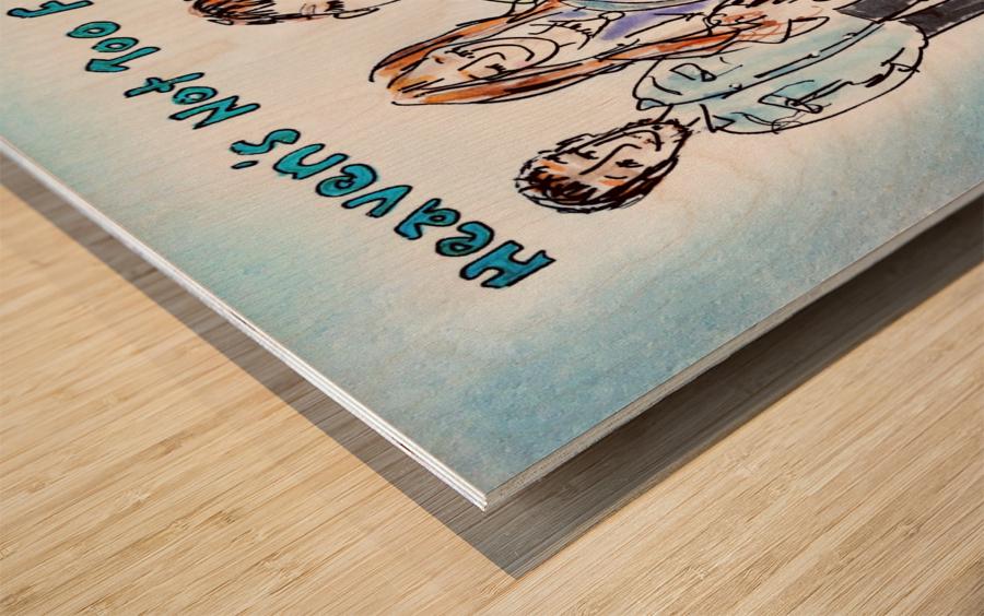 We Three - AGT 2018 Wood print