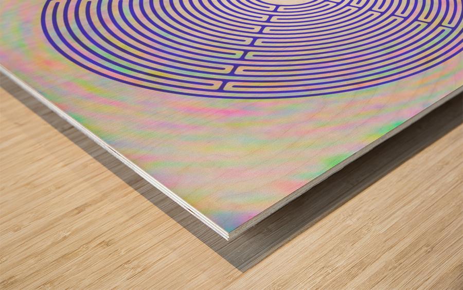 BLUE23 Wood print