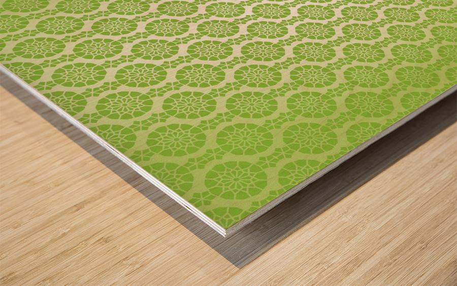 Islamic Green Art Wood print