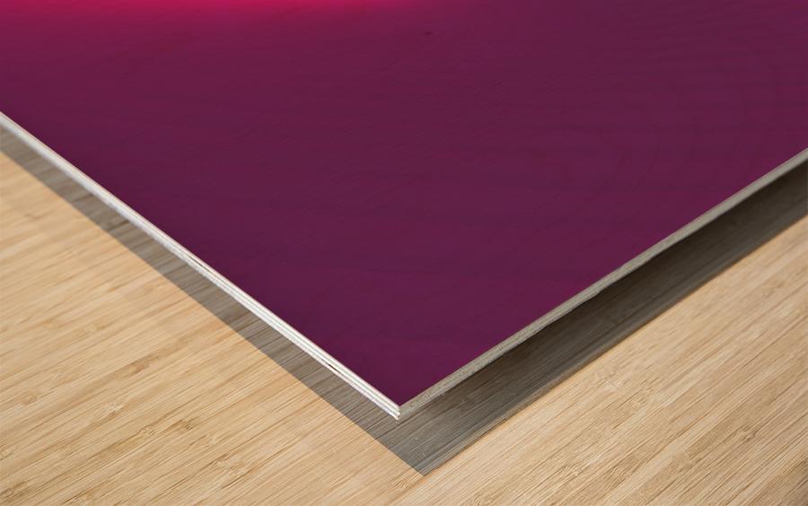 Abstract Purple & Blue Art Wood print