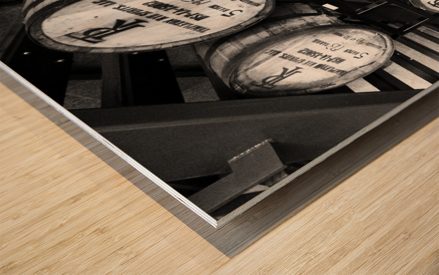 Whisky Barrels Wood print