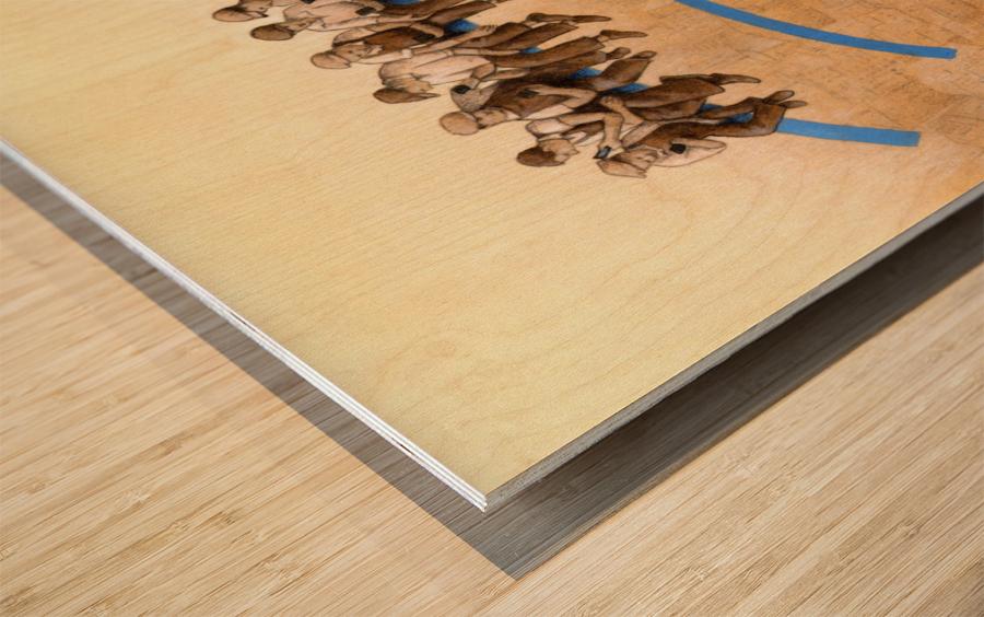 workers Wood print