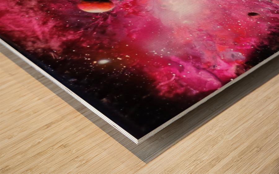 Fish galaxy Wood print