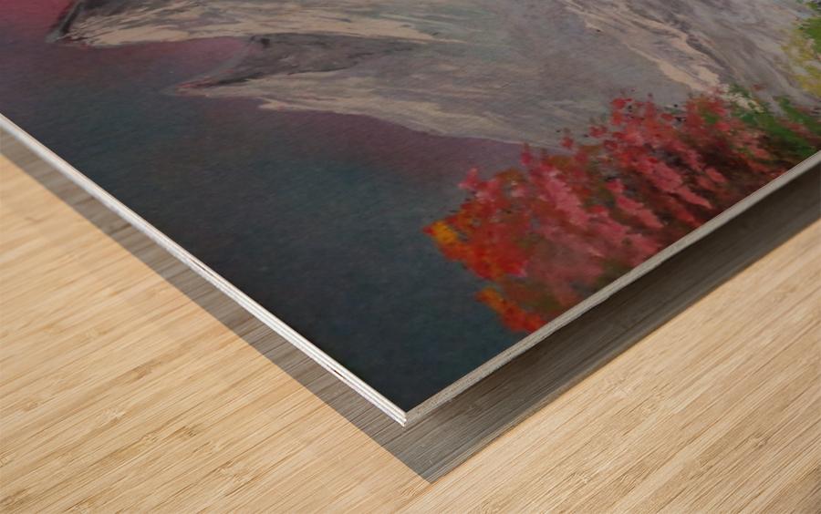 Pastel landscape Wood print