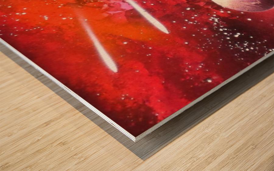 Marigold galaxy Wood print