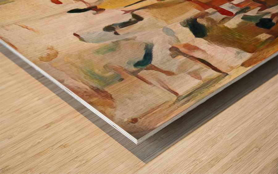 Rusty Shadows Wood print