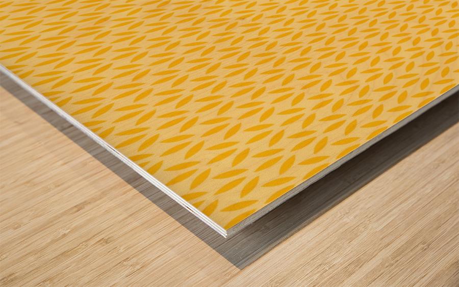 Yellow Flora Wood print