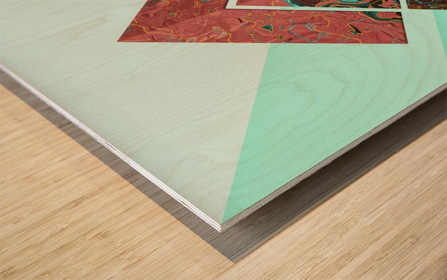 Geometric XX Wood print
