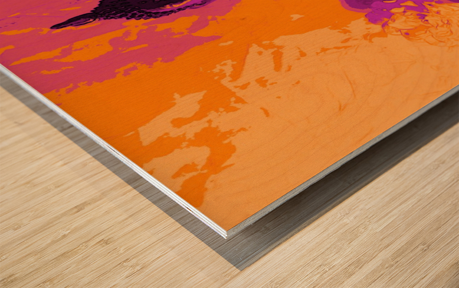 Buddha Altar -- Sunset Colors Wood print