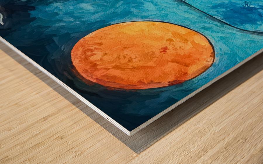 Blue Sunrise Wood print
