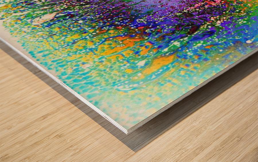 Bubbles Reimagined 61 Wood print