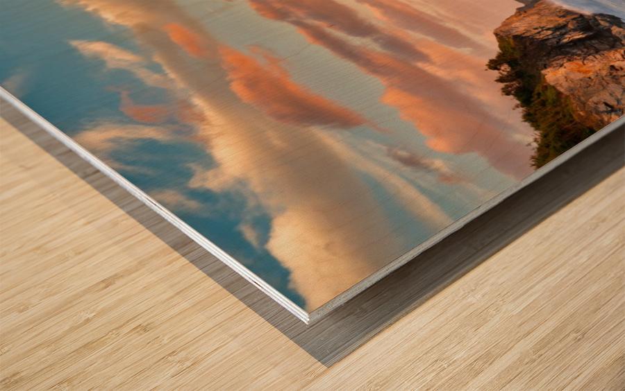 Tangerine Skies Wood print