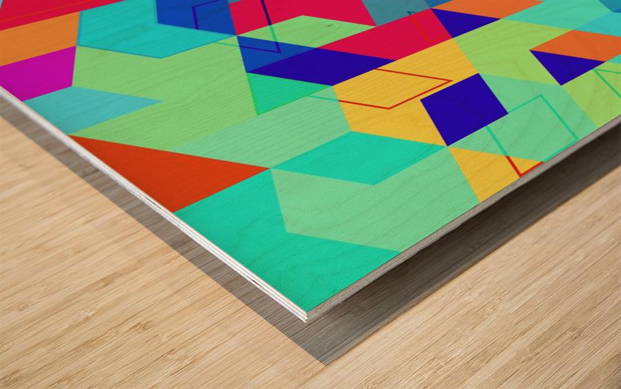 Pattern LXXIX Wood print