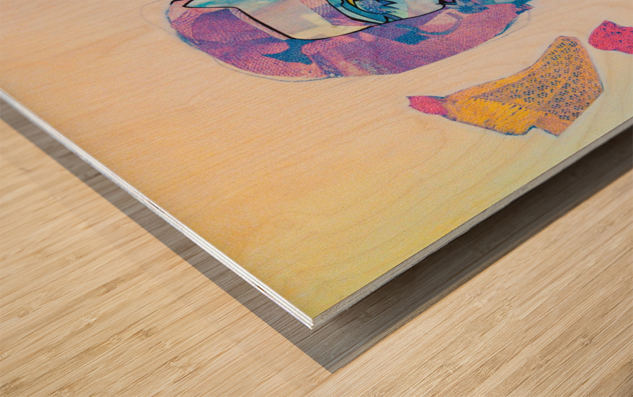 Flux Wood print