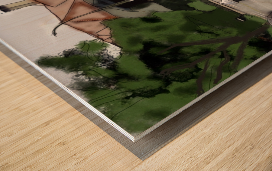 Lexington Louise and Friend Wood print