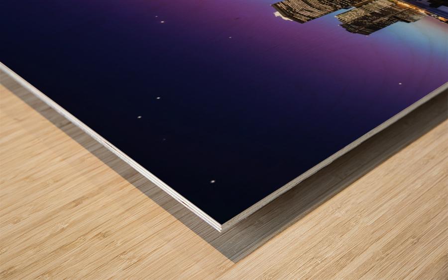 New York Sky Line Impression sur bois