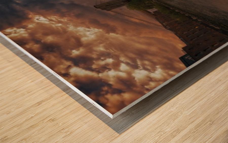Between bridges Wood print