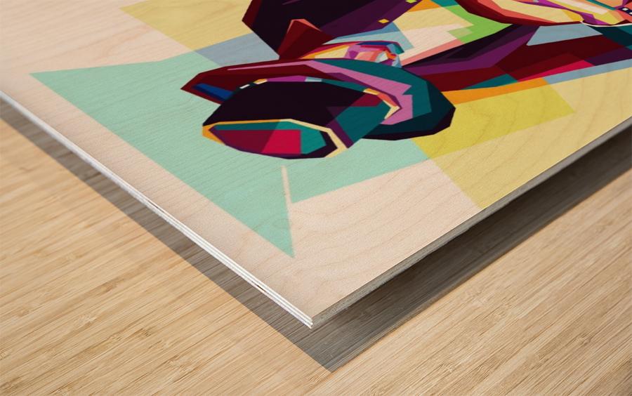 GUITAR MAN Wood print