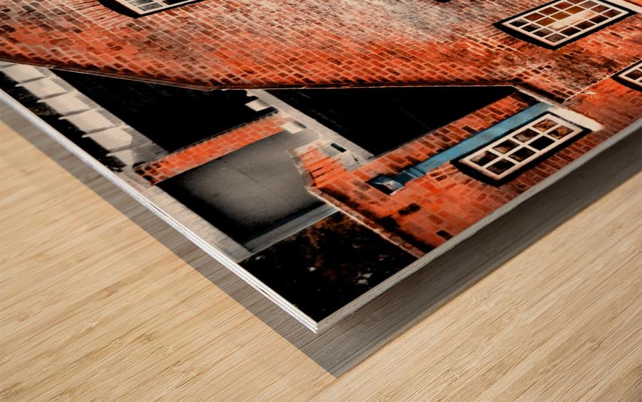 Squares Wood print