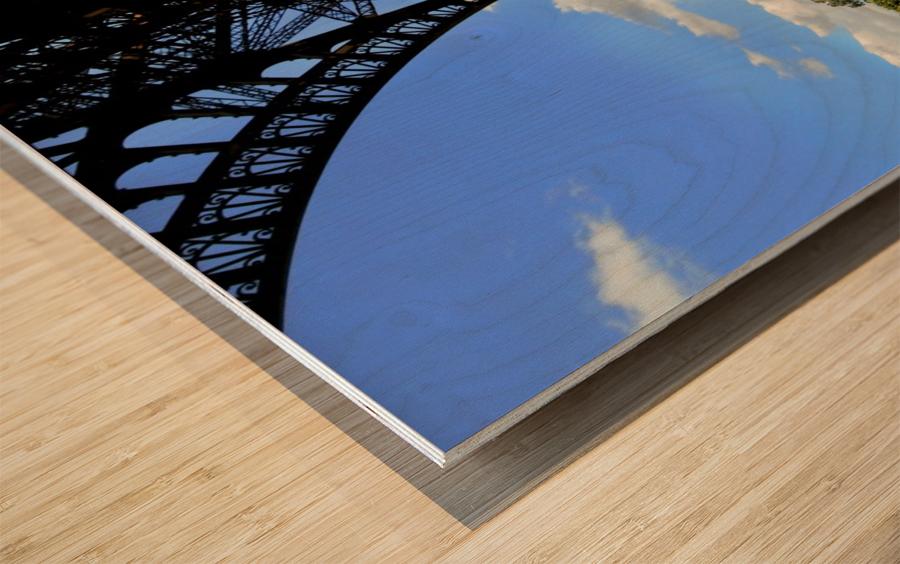Life under the Eiffel Tower Wood print