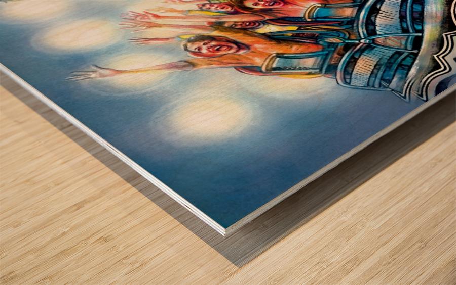Jimi Hendrix by Krzysztof Grzondziel Wood print