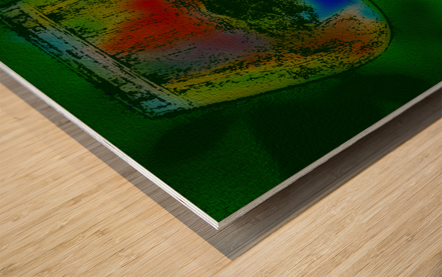 REFRACTION Wood print