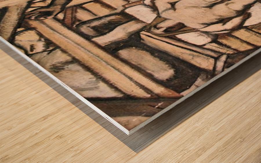 Production, design by Albin Egger-Lienz Wood print