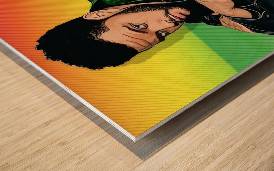 The Weeknd Wood print