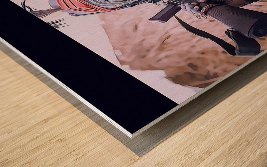 Afar Warrior Wood print