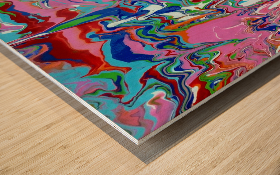 Meltdown Wood print