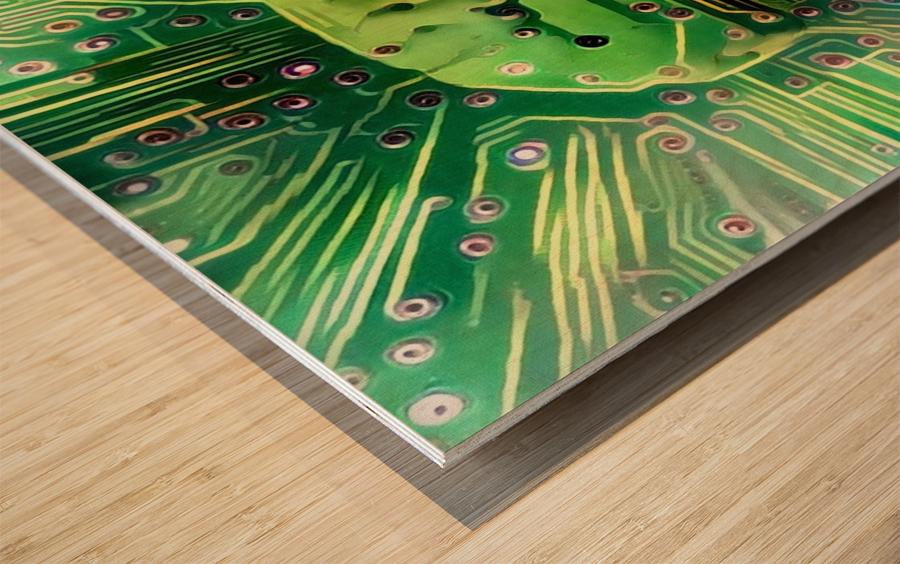 Electronic Brain Wood print