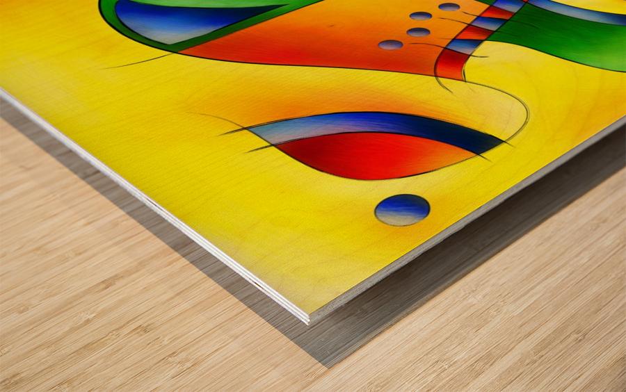 Antaressa - colourful world Wood print