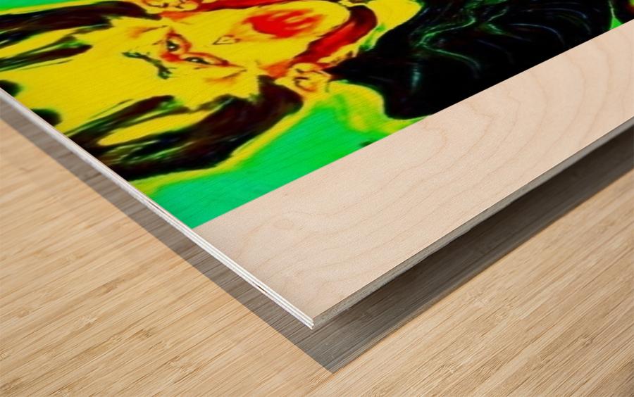Dracula square format by Neil Gairn Adams Wood print