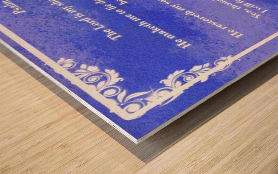Psalm 23 9BL Wood print