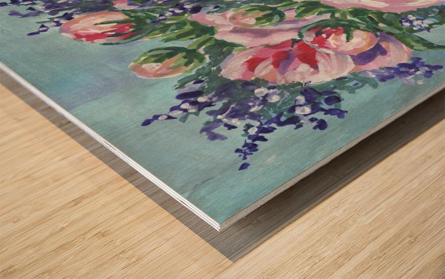 Beautiful Impressionistic Flowers Wood print