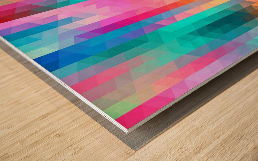 VIVID PATTERN V Wood print